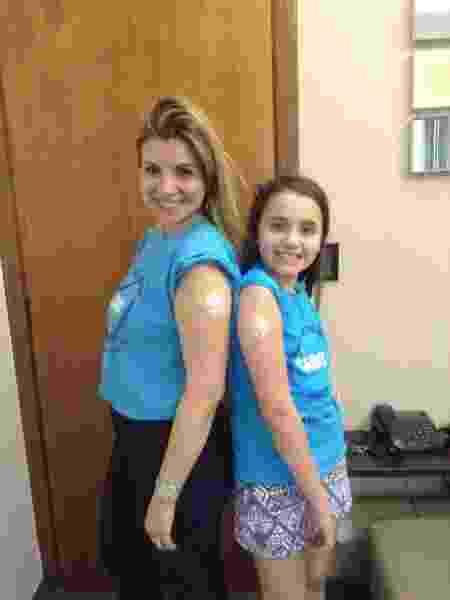 """""""Ela estava sempre cansada"""", diz Ana Paula sobre a filha, Caroline, antes do diagnóstico de diabetes - Arquivo pessoal"""