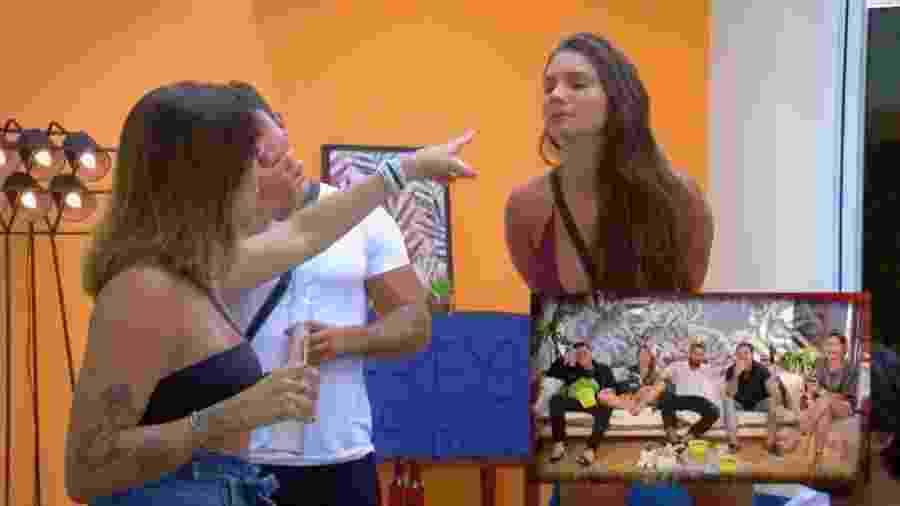 De Férias com o Ex Brasil: Tati Dias e Stéfani Bays brigam feio com direito a bebida na cara - Reprodução/MTV