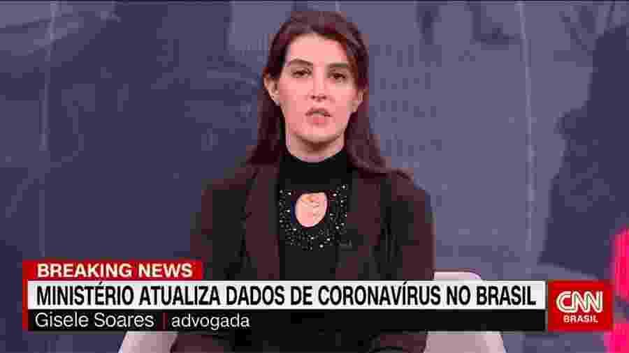 """A advogada Gisele Soares substitui Gabriela Prioli no programa """"O Grande Debate"""" - Reprodução/CNN"""