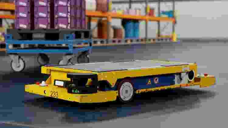 Robô da Nvidia em fábrica da BMW - Divulgação - Divulgação
