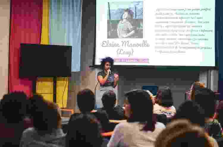 Elaine Manoelle Gomes, engenheira de software, em palestra no M.I.N.A.s - Acervo Pessoal - Acervo Pessoal