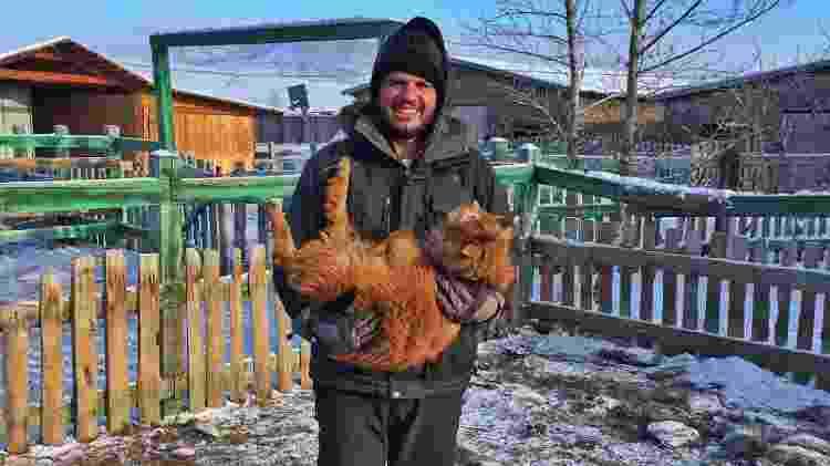 Danniel cuidou de animais na Mongólia - Arquivo pessoal - Arquivo pessoal