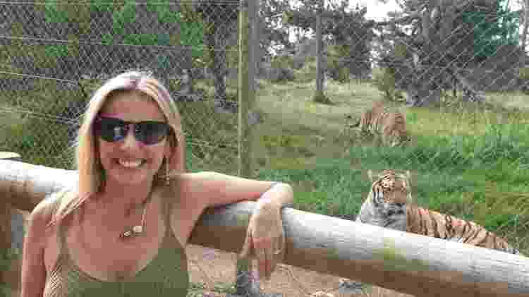 Luisa Mell em visita ao santuário dos felinos - Reprodução - Reprodução