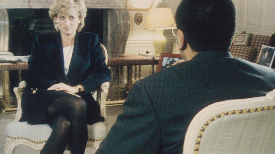 "Martin Bashir entrevista a Princesa Diana no programa ""Panorama"" - Getty Images"
