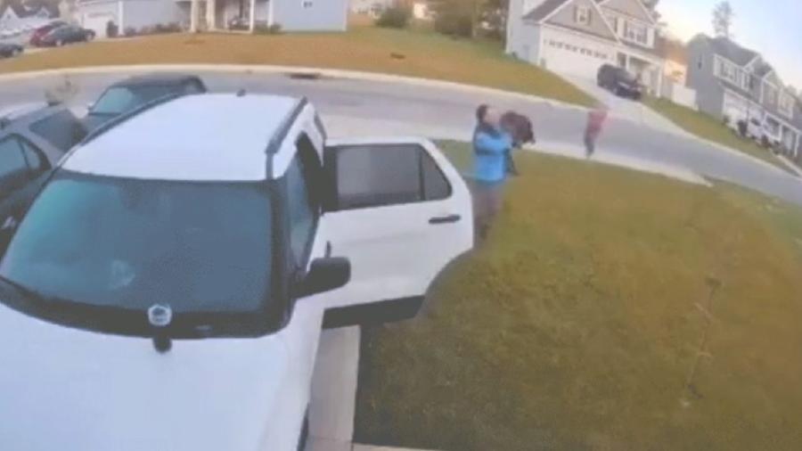 Homem é atacado por lince ao sair de casa - Reprodução