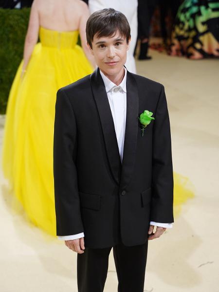 Elliot Page chega para baile do MET 2021, em Nova York - Sean Zanni/Patrick McMullan via Getty Images