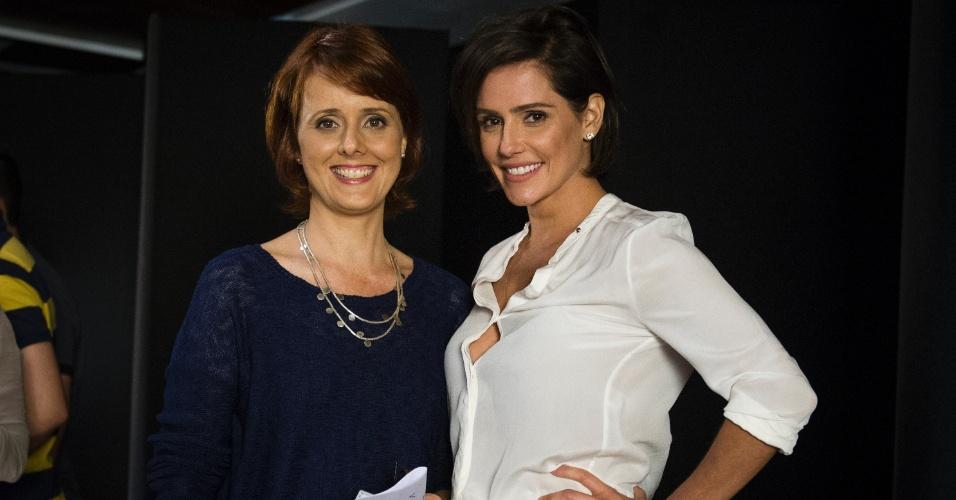 """Deborah Secco é a entrevistada de Bianca Ramoneda no """"Ofício em Cena"""", da GloboNews."""