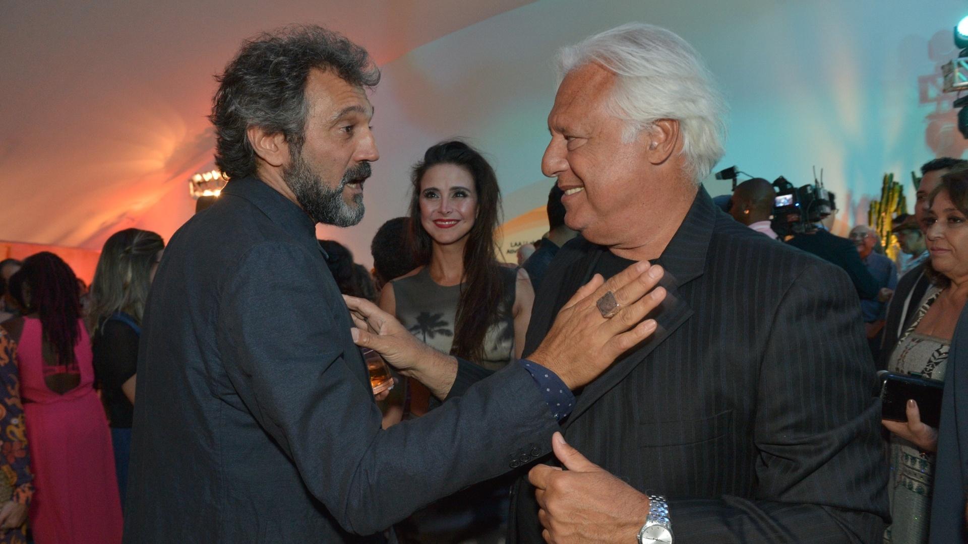 Antonio Fagundes e Domingos Montagner na festa de