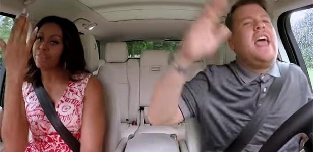 Michelle Obama dança e canta com James Corden em programa de TV - Reprodução/Youtube