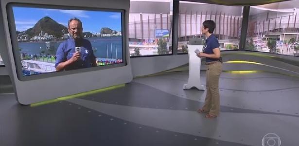 Sandra Annenberg pede ao marido, Ernesto Paglia, para passar protetor solar - Reprodução/TV Globo