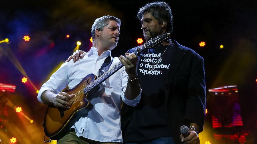 Victor se apresenta com Léo no Espaço das Américas, em São Paulo   - Rapais Castello/AgNews