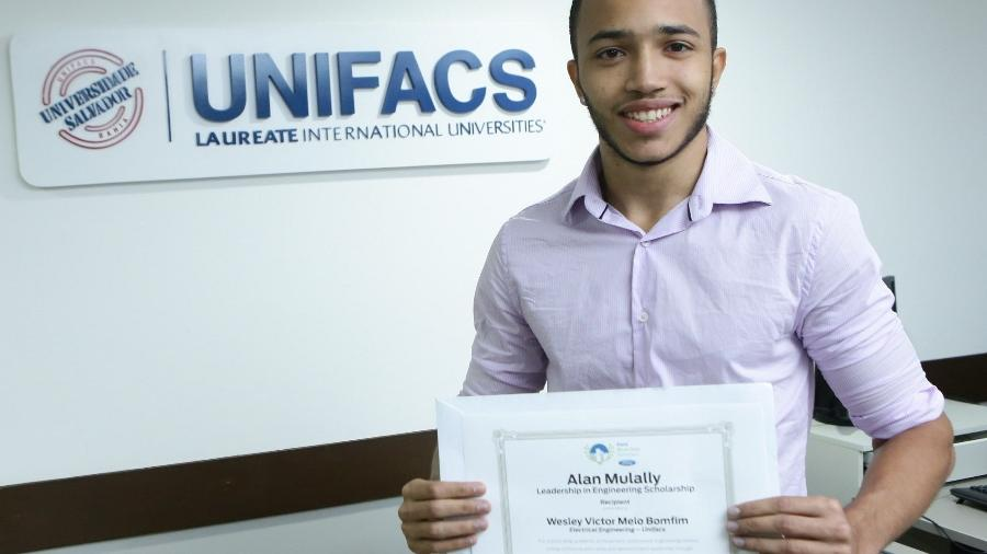 Wesley Bomfim: bolsista do ProUni na Bahia e participante de programas de estímulo à educação - Divulgação