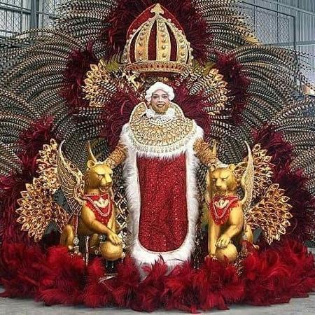 Will Passos vai desfilar na Império da Casa Verde no Carnaval com a luxuosa fantasia de Luís XIII - Wancley Natucci/Divulgação