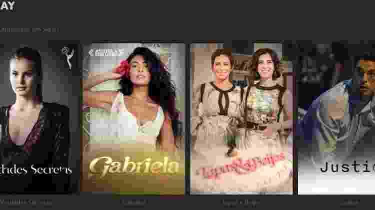 """Na categoria """"séries"""" do Globoplay, constam obras como """"Verdades Secretas"""" e """"Gabriela"""", previamente listadas como novelas - Reprodução/Globoplay - Reprodução/Globoplay"""