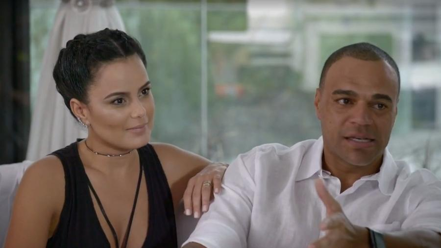 """Luciele Di Carmargo e Denílson participaram do """"Vai Fernandinha"""" - Reprodução/Multishow"""