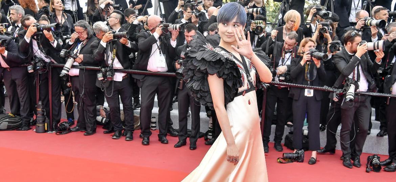 A atriz chinesa Li Yuchun no Festival de Cannes de 2018 - Xinhua/Chen Yichen