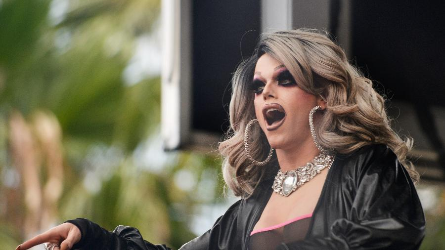 Morgan McMichaels durante performance em Los Angeles, nos EUA - Getty Images