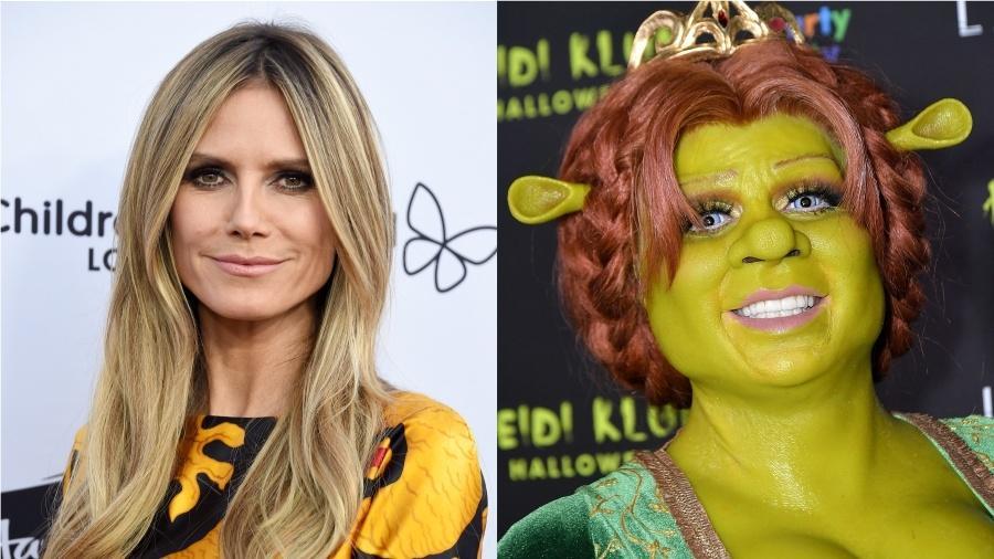 "Heidi Klum virou a princesa Fiona, de ""Shrek"" - Gregg DeGuire/Michael Loccisano/Getty Images"