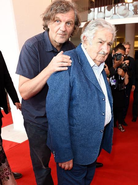 Emir Kusturica e Pepe Mujica no Festival de Veneza - Antony Jones/Getty Images