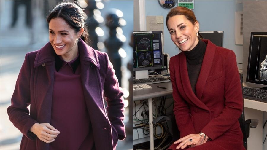 Meghan Markle e Kate Middleton escolheram a mesma cor no mesmo dia - Getty Images