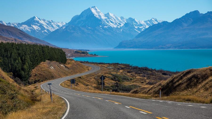 Estrada na Nova Zelândia - Getty Images/iStockphoto