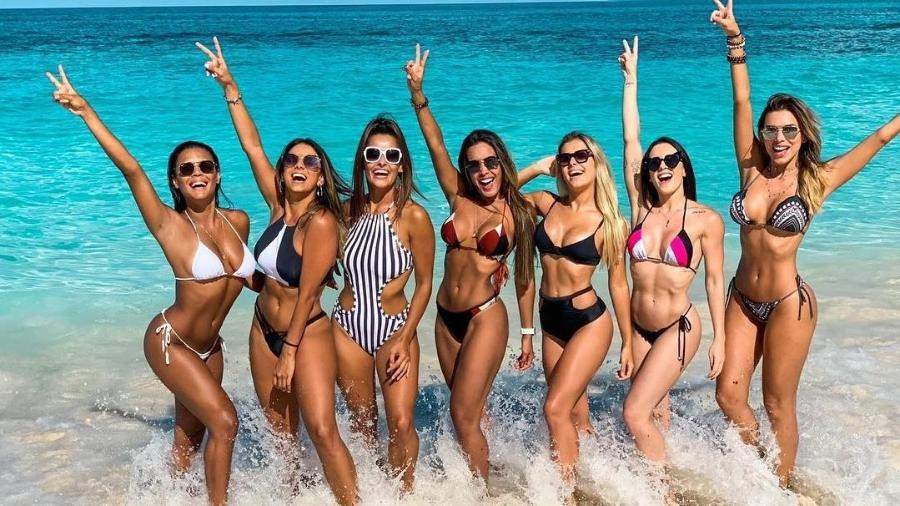 Bailarinas do Faustão embarcam em cruzeiro para Bahamas - Reprodução/Instagram