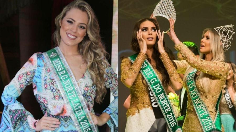 Isabella Cecchi (à esq.) e Danielle Marion: as duas ganharam em categorias distintas do Miss Rio Grande do Norte - Fotomontagem/Instagram/Arquivo pessoal