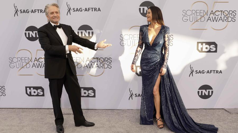 Michael Douglas e Catherine Zeta-Jones no SAG Awards - REUTERS/Monica Almeida