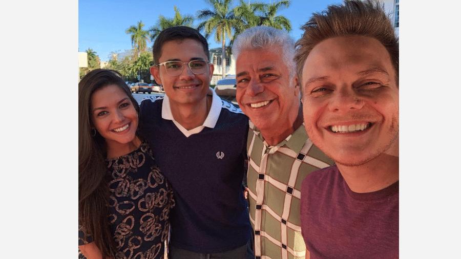 Thais Fersoza, Clebson Teixeira, Lulu Santos e Michel Teló em Miami - Reprodução/Instagram
