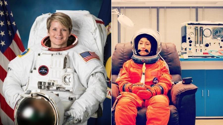 Anne McClain e Christina H Koch - Reprodução