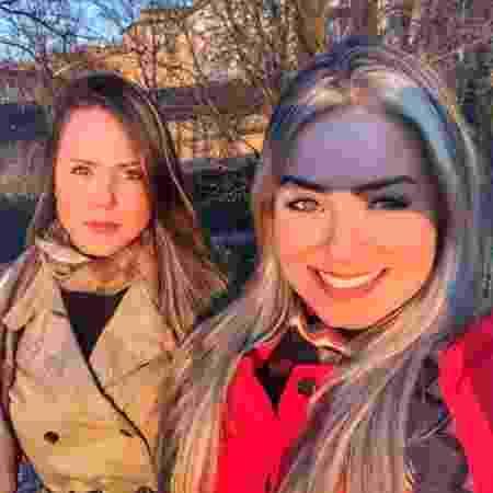 Paula com a irmã, a advogada Mônica von Sperling - Arquivo pessoal