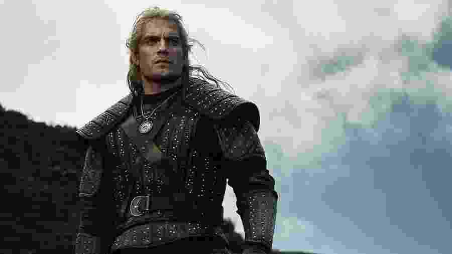 Henry Cavill como Geralt de Rivia em The Witcher - Divulgação