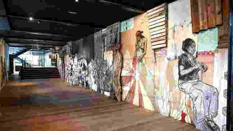 Espaço do Fluctuart com exposição de arte de rua - Divulgação