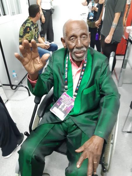 Nelson Sargento nos bastidores do Rock in Rio - Leonardo Rodrigues/UOL