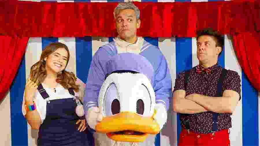 Otaviano Costa se veste de Pato Donald no Programa da Maisa do SBT - Beatriz Nadler/SBT