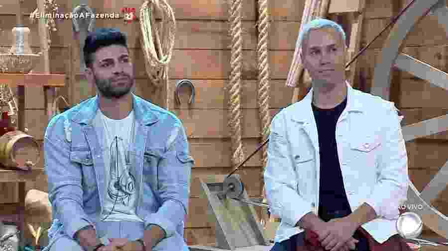 Netto e Viny disputam preferência do público em A Fazenda 2019 - Reprodução/RecordTV