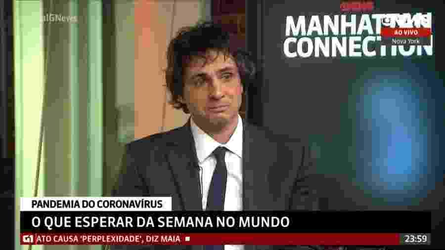Guga Chacra chorou ao falar sobre coronavírus durante cobertura da GloboNews - Reprodução/GloboNews