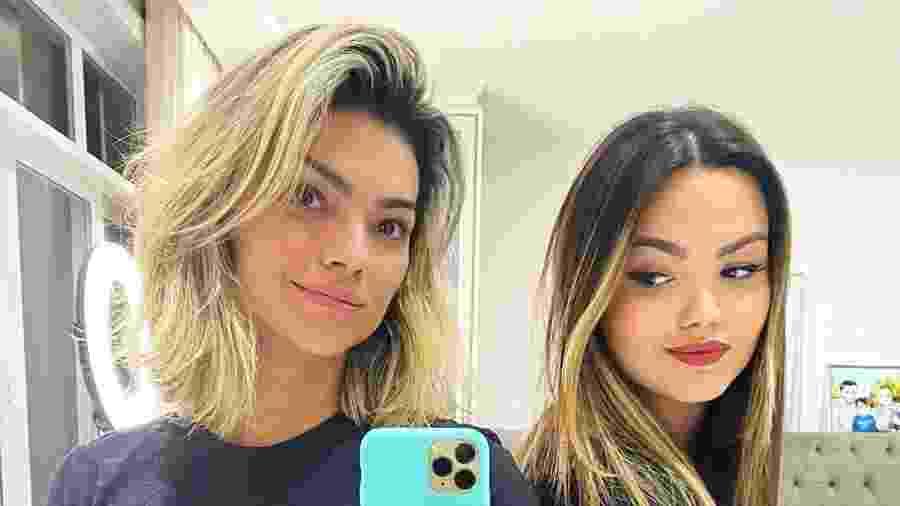 """Kelly Key teve o cabelo cortado pelo filha Suzanna Freitas: """"Eu gostei!"""", disse a cantora no Instagram - Reprodução/Instagram"""