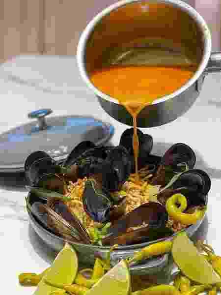 Prato do delivery de David Muñoz: cozinha de chef em casa - Reprodução Instagram - Reprodução Instagram