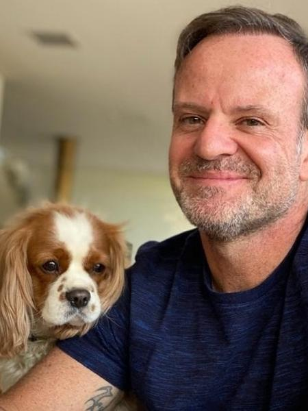 Rubens Barrichello e seu cão, Speedy - Reprodução/Instagram