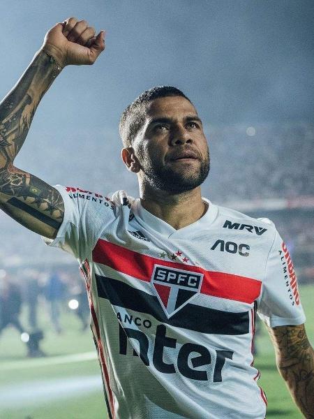 Daniel Alves, jogador do São Paulo - Divulgação/SãoPauloSPFC