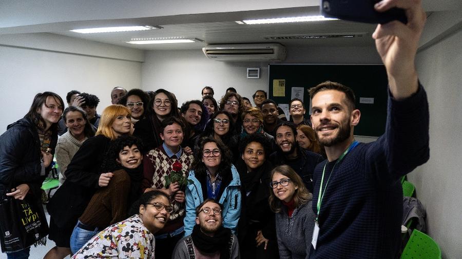 Turma na aula inaugural da turma pré-ENEM em agosto de 2019 - Divulgação
