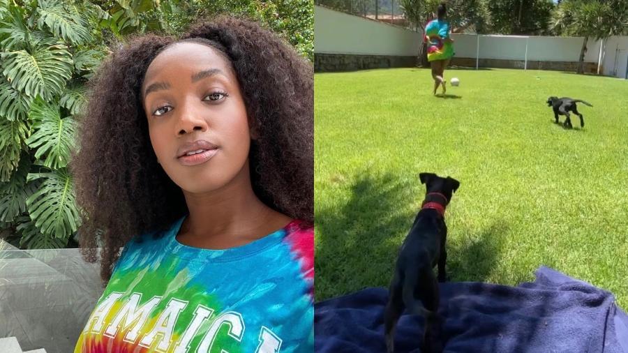 Iza brinca com seus cachorros em vídeo - Reprodução/ Instagram @iza