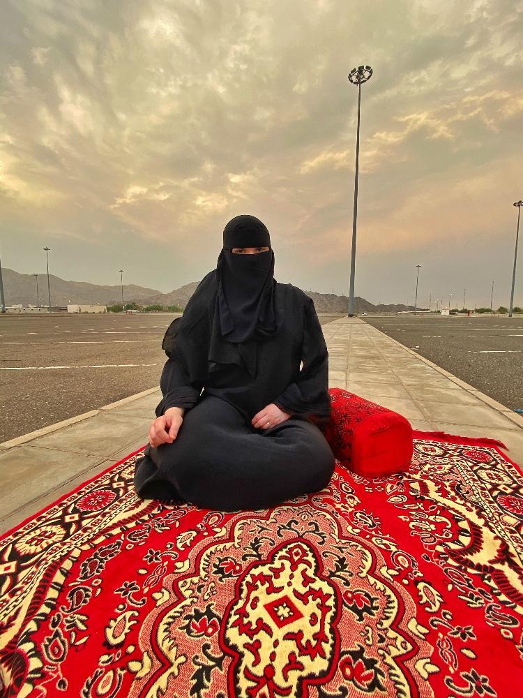 Iris Cajé em Makkah, na Arábia Saudita - Arquivo pessoal - Arquivo pessoal