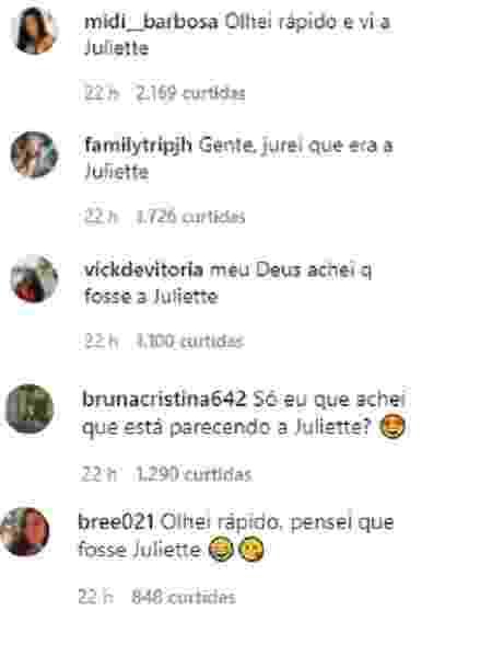 Fãs de Marquezine a confundem com Juliette - Reprodução/Instagram - Reprodução/Instagram