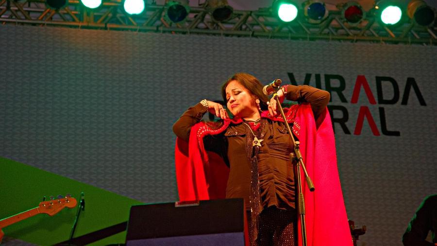 Show da cantora paraguaia Perla no palco Arouche durante a 11ª edição da Virada Cultural de São Paulo - Chello Fotógrafo/Futura Press/Folhapress