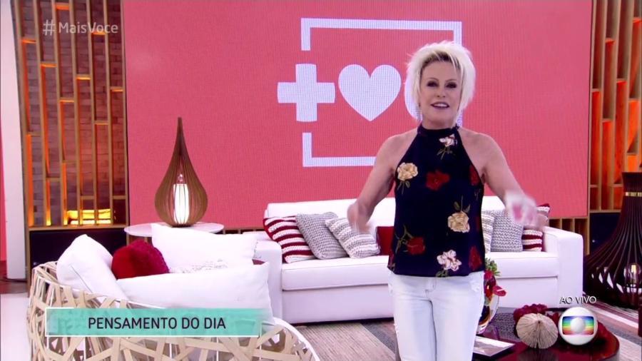 """Ana Maria Braga volta das férias e encontra o """"Mais Você"""" de cara nova - Reprodução/TV Globo"""