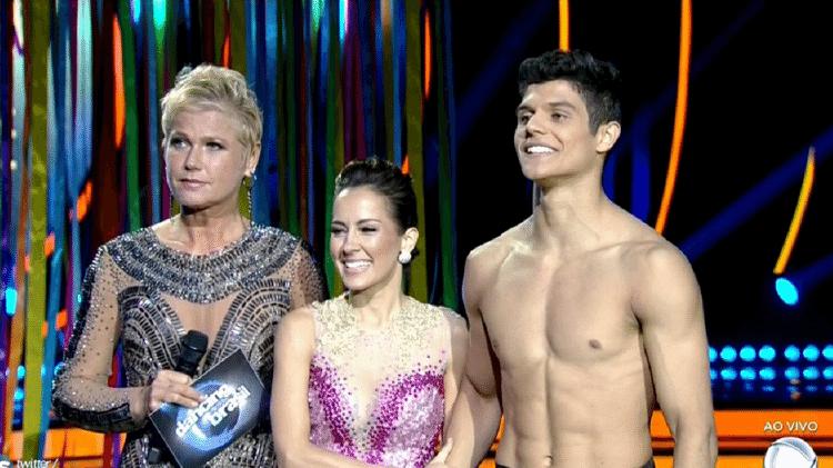"""Xuxa e Maitê Piragibe na final da final da primeira edição do """"Dancing Brasil""""  - Reprodução/TV Record - Reprodução/TV Record"""