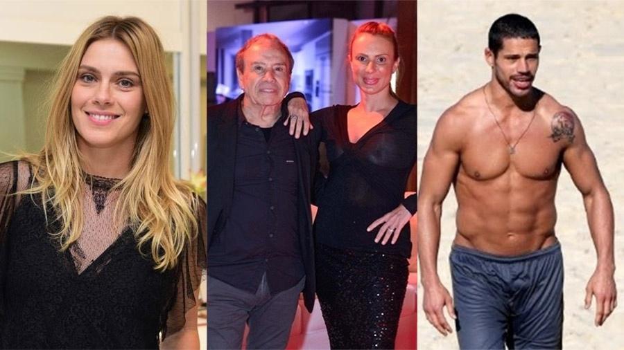 Carolina Dieckamn, Stênio Garcia, Marilene Saade e José Loreto - Montagem/UOL