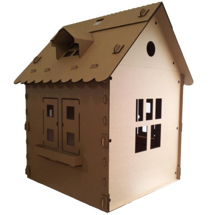 Casinha de Papelão, de R$ 121,41 a 305,91 (conforme o tamanho), Brincando com Papelão (www.brincandocompapelao.com)